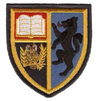Dallam School embroidered badge